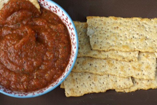 Roasted Eggplant & Red Pepper Dip 2