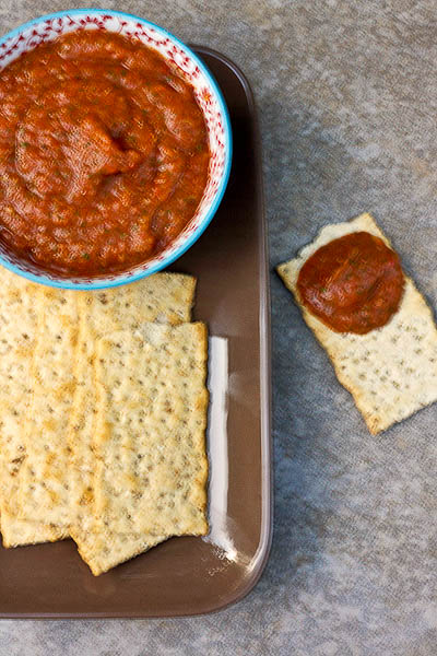 Roasted Eggplant & Red Pepper Dip 1