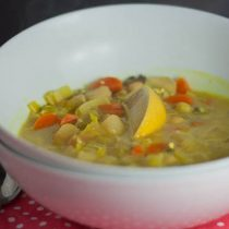 Chickpea and Wild Rice Mulligatawny & Lunch Wars 7