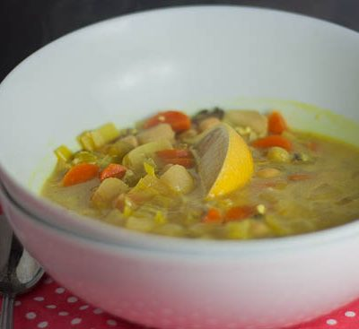 Chickpea and Wild Rice Mulligatawny & Lunch Wars