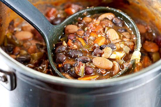 Three Bean Crockpot Chili - Healthy. Delicious.