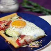 Cheesy Baked Egg Tart with Tarragon, Tomato and Zucchini 7