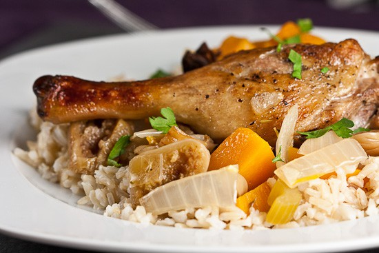 Crispy Duck with Star Anise and Squash 1