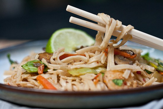 Spicy Ginger Noodles {with Shrimp} 1