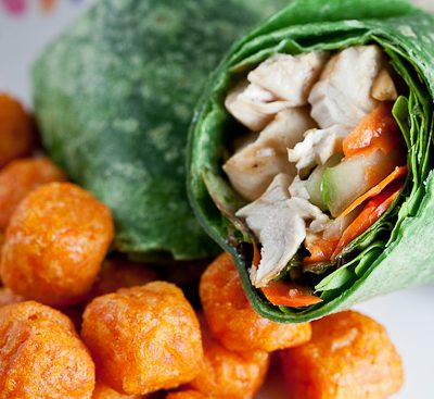 Ginger Sesame Chicken Wrap …For One