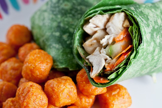Ginger Sesame Chicken Wrap ...For One 1