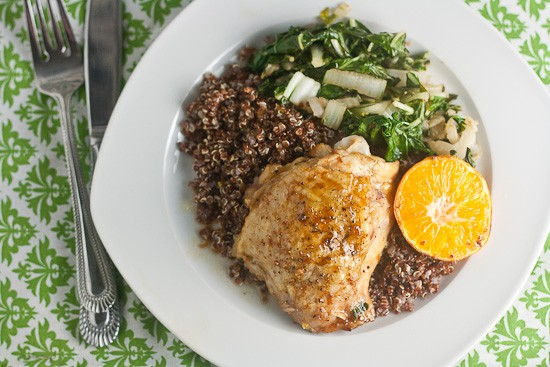 Clementine-Soy Chicken Thighs | Healthy. Delicious.