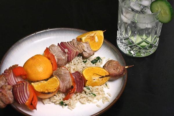 Caribbean Pork and Clementine Kebabs 2