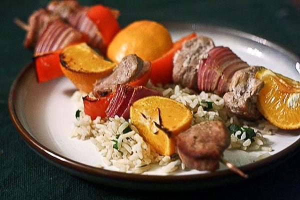 Caribbean Pork and Clementine Kebabs 1