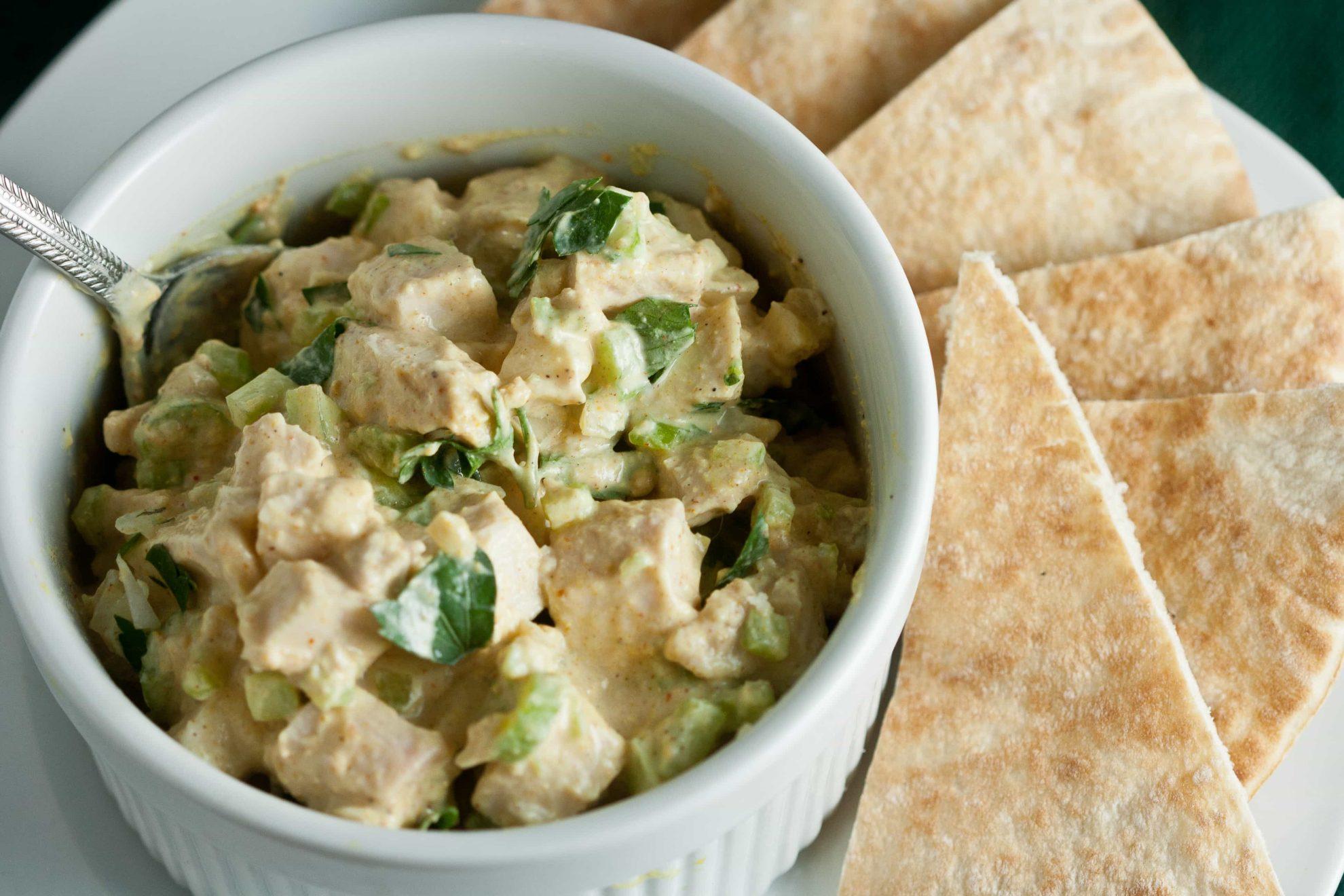 Tandoori Chicken Salad {Lactose Free!} 4