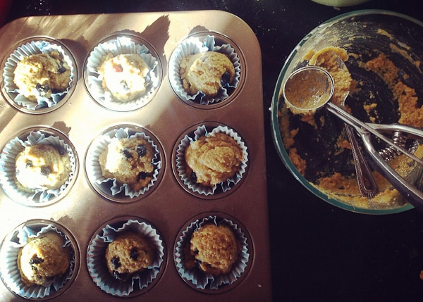 Blueberry Honey Cornmeal Muffins 3