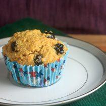 Blueberry Honey Cornmeal Muffins 6