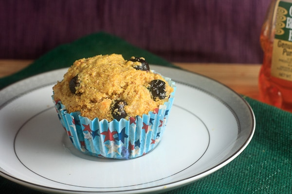 Blueberry Honey Cornmeal Muffins 1