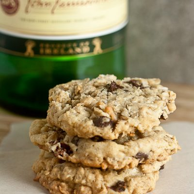 Oatmeal Cookies with Whiskey-Soaked Cherries