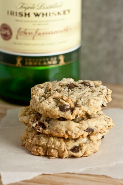 Oatmeal Cookies with Whiskey-Soaked Cherries 1