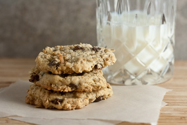 Oatmeal Cookies with Whiskey-Soaked Cherries - Healthy. Delicious.