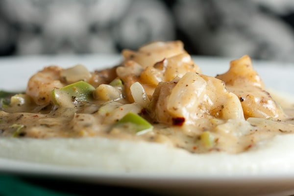 Shrimp + Grits with Creole Cream Sauce 2