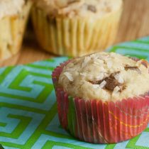 {SRC} Banana Toffee Coconut Muffins 24