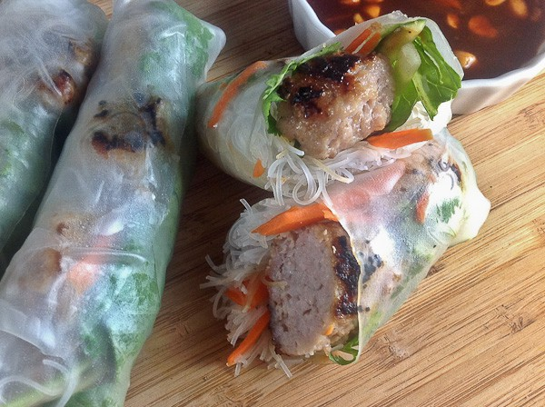 Summer rolls with nem nuong