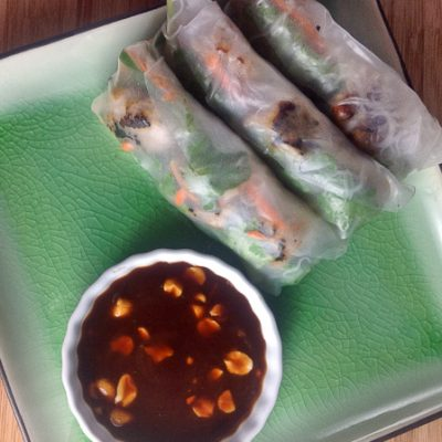 Vietnamese Summer Rolls with Sausage