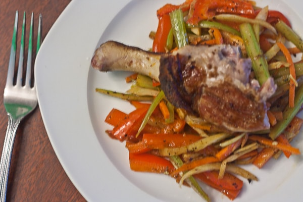 duck with orange fennel slaw-2