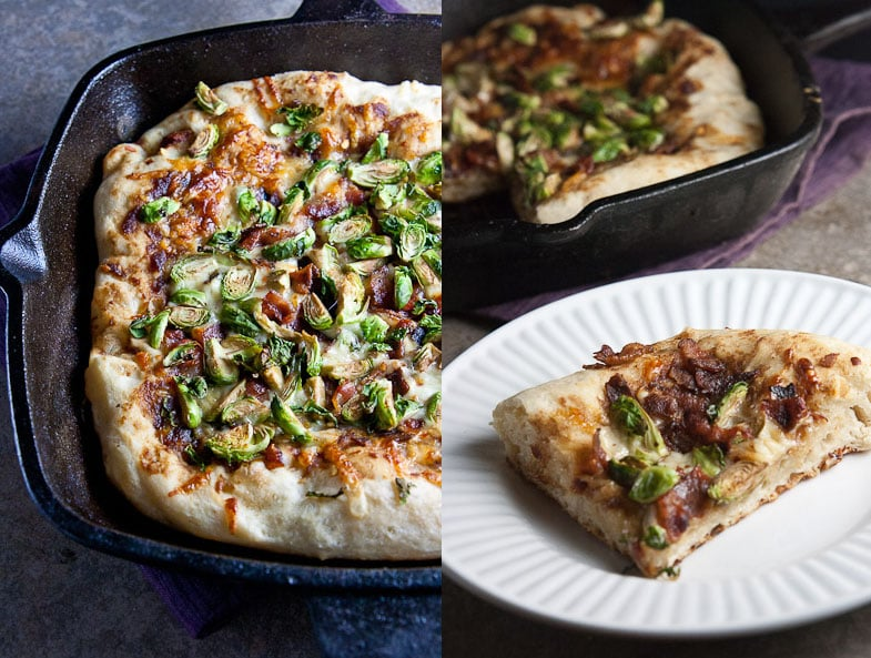 Deep Dish Pizza with Brussels Sprouts & Bacon 2