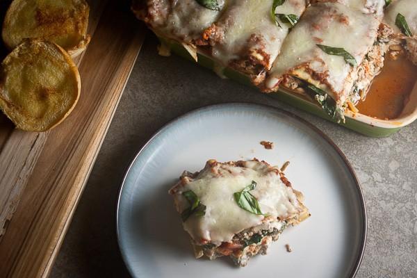 Turkey, Mushroom & Spinach Lasagna 2