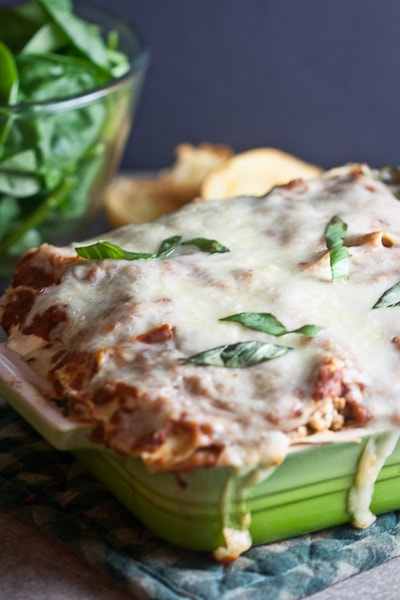 Turkey and Spinach Lasagna from Healthy. Delicious.