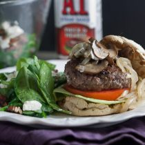 Juicy Bison Burgers with Mushrooms & Onions 13