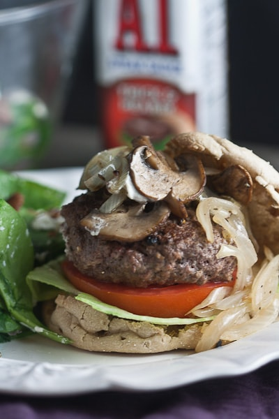 Juicy Bison Burgers with Mushrooms & Onions 1
