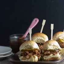 Apple Butter Barbecue Pulled Chicken Sliders 1
