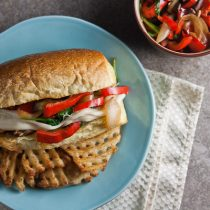 Chicken Philly Sandwiches with Provolone Sauce 3