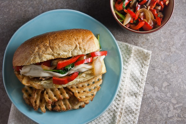 Chicken Philly Sandwiches with Provolone Sauce 1