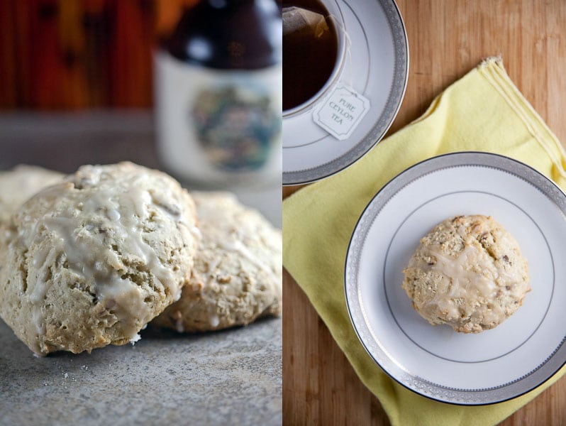 maple pecan scones vignette