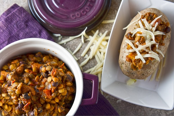 Slow Cooker Lentil and Pumpkin Chili 9