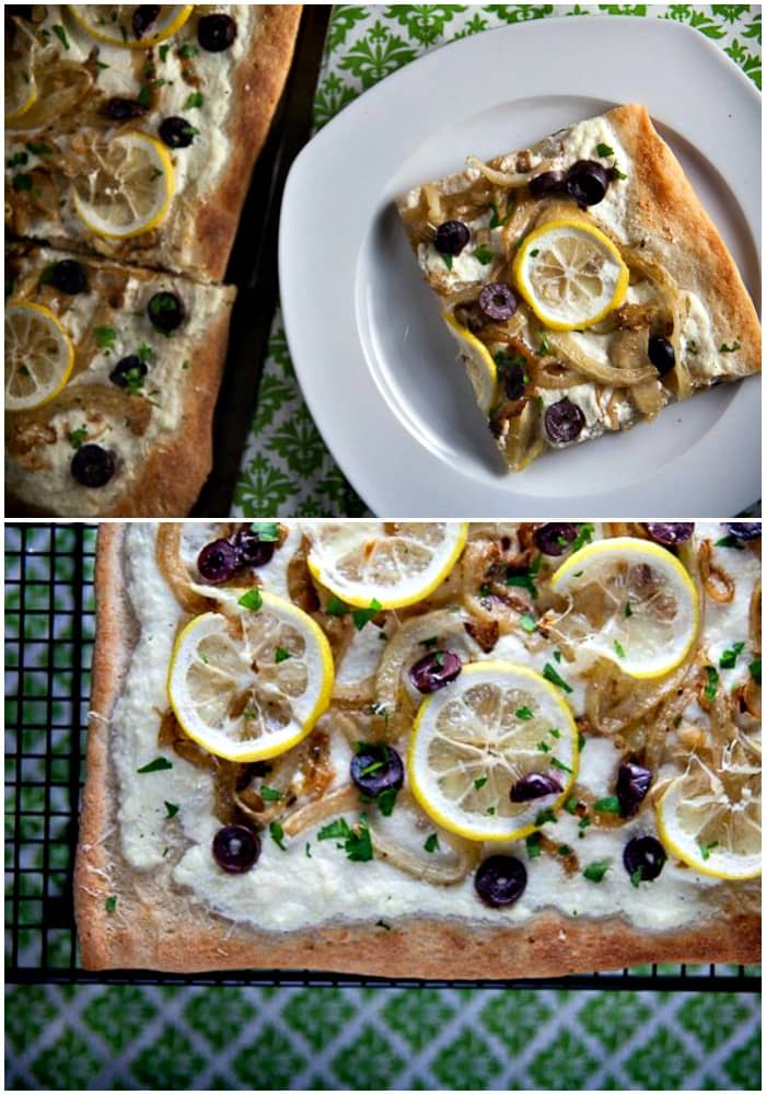 Lemon Fennel and Olive Pizza