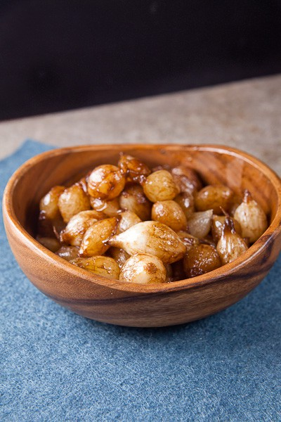 Braised Onions with Orange + Balsamic Vinegar 1