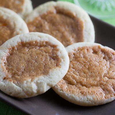Orange Sugar Cookies with Burnt Caramel