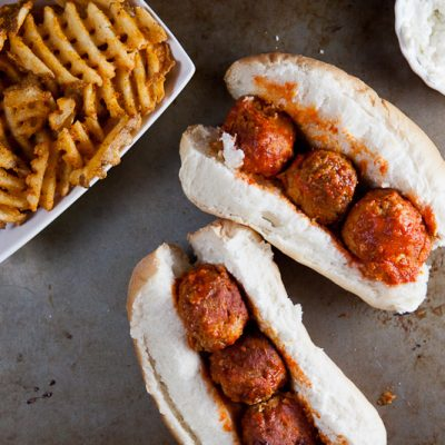 Crock Pot Buffalo Chicken Meatball Subs