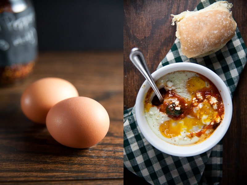 Baked Eggs in Spicy Sauce 1
