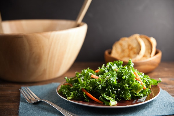 Kale Salad with Blue Cheese + Pickled Carrots 3