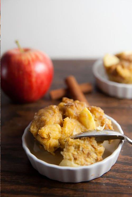 mini apple cinnamon French toast casserole recipe - a great make-ahead breakfast!