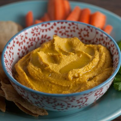 Moroccan Spiced Carrot Hummus