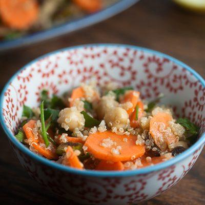 Carrot, Quinoa & Pistachio Salad