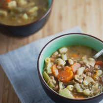 Spring Vegetable Soup with Pesto 16