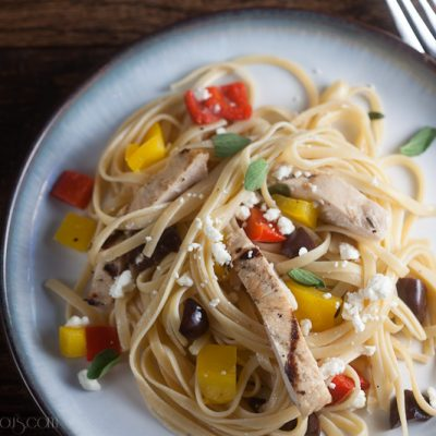 Chicken and Pepper Pasta {+ Marzetti Giveaway!}
