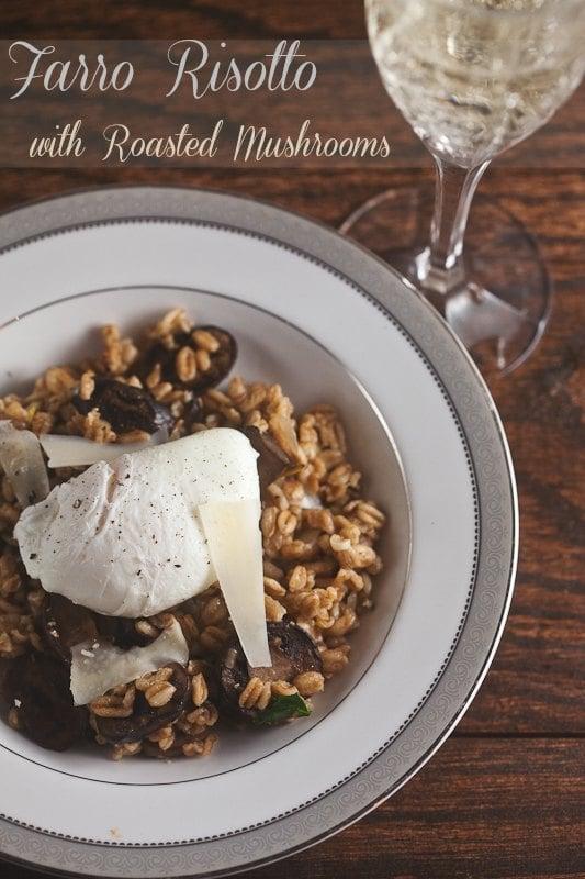 Farro Risotto with Roast Mushrooms 4