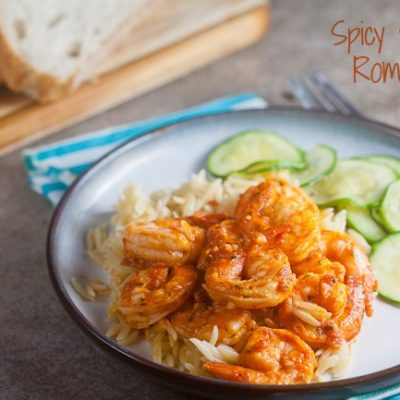 Spicy Shrimp Romesco
