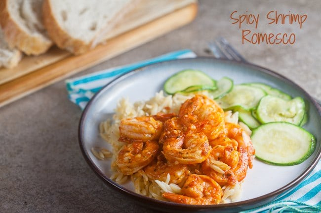 Spicy Shrimp Romesco 1