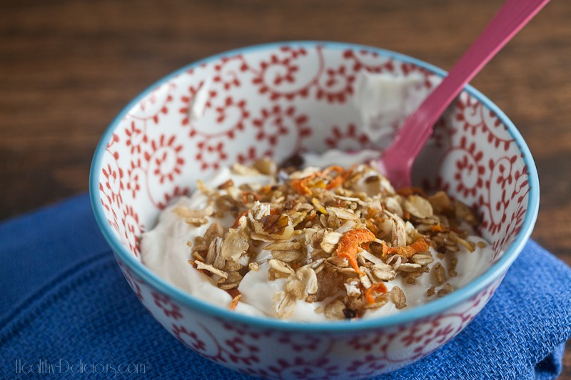 carrot cake granola from healthy-delicious.com